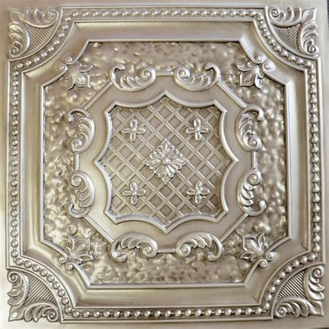 dct 04 antique white faux tin ceiling tile 24x24 ceiling
