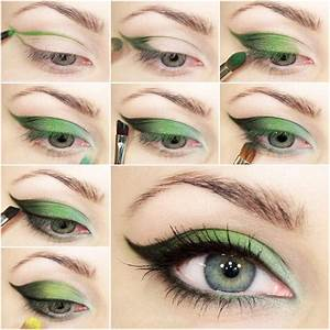DIY Green Fairy Smokey Eye Makeup