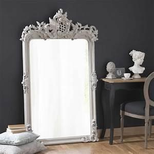 Miroir Fenetre Maison Du Monde : miroir en bois et r sine gris h 160 cm isaure maisons du monde ~ Teatrodelosmanantiales.com Idées de Décoration