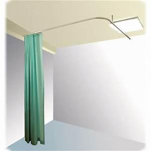 Lit 2m Sur 2m : s paration lit 2m par rideau coulissant sur rail fix au plafond ~ Teatrodelosmanantiales.com Idées de Décoration