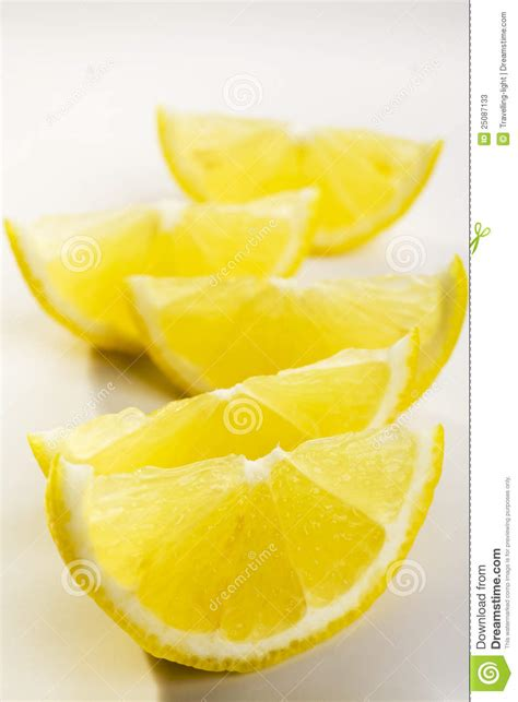 lemon wedges stock  image