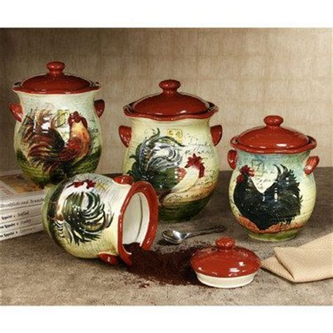 rooster kitchen canister sets 133 best images about rooster canisters on set