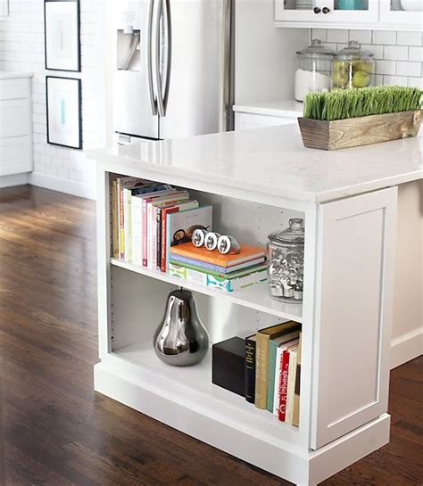 Kitchen Counter Add On by Kitchen Island Bookshelf For Cookbooks To Add On