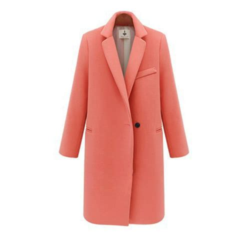 single button woolen coat winter coat reviews shopping