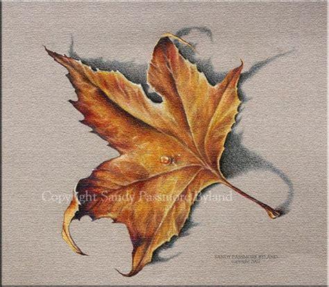 fall leaf canvas print fall art orange yellow brown