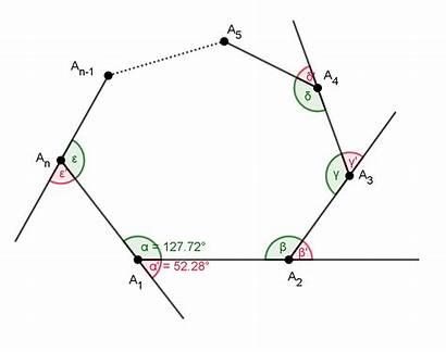 Angles Exterior Interior Polygons Diagonals Regular Areas