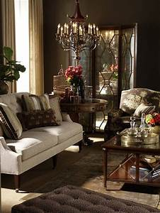 Rich warm brown living room the chocolate brown paint for Home decor furniture mumbai