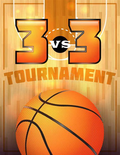 basketball tournament poster stock vector illustration
