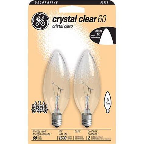 ge 60 watt 2 pack blunt tip candelabra bulbs