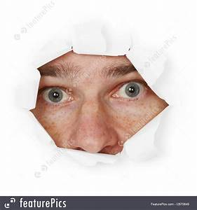 Fear Emotions: Scared Person Hiding In Hole - Stock ...