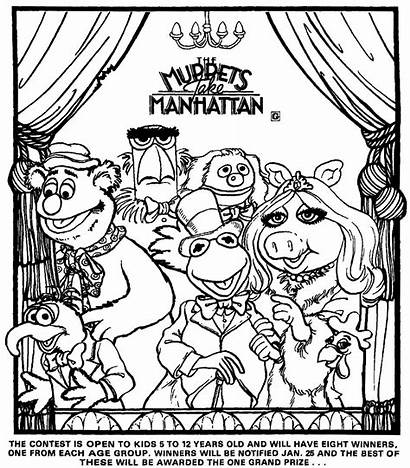 Take Muppets Manhattan Coloring January Contest Dolls