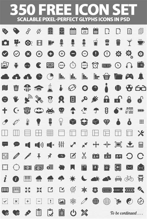 icons pixel perfect glyphs icons psd icons