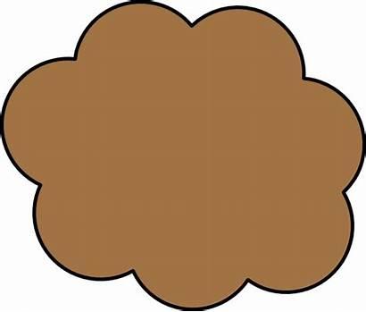 Brown Cloud Cartoon Clipart Clip Cliparts Vector