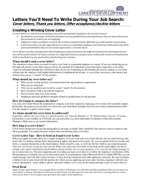 Does Every Resume Need A Cover Letter by Cover Letters You Will Always Need