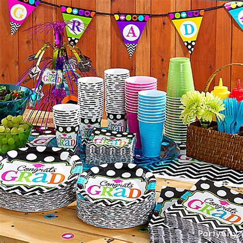 Graduation Table Decorating Kit by Grad Buffet Tableware Idea Colorful Graduation