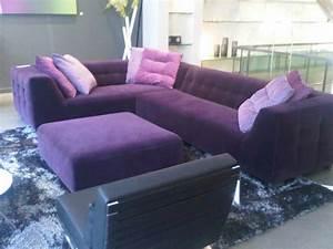 Purple sectional sofa ligne roset purple sectional for Modern purple sectional sofa