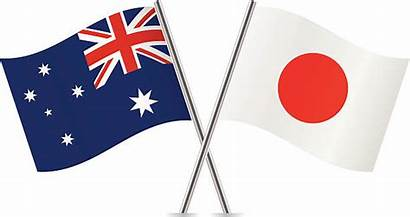 Japanese Flag Japan Australia Vector Clip Illustrations