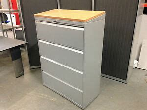 Herman Miller File Cabinet by Herman Miller 4 Drawer Foolscap Lateral Filing Cabinet
