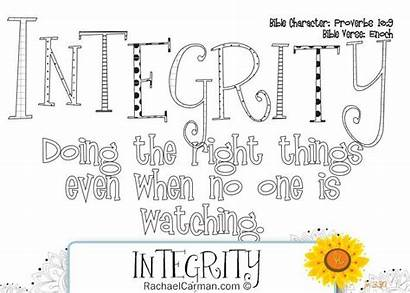 Integrity Character Education Coloring Honesty Activities Qualities