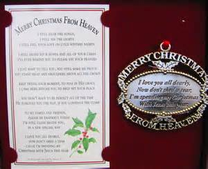 merry christmas from heaven ornament invitation template