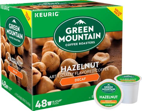 Decaf coffee should fall somewhere in the range of 2 to 4 mg per 250 ml (8 oz) cup. Green Mountain Coffee - Decaf Hazelnut K-Cup Pods (48-Pack) | eBay