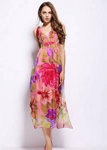 Blumen Lange Blütezeit : langes kleid mit blumenmuster ~ Michelbontemps.com Haus und Dekorationen