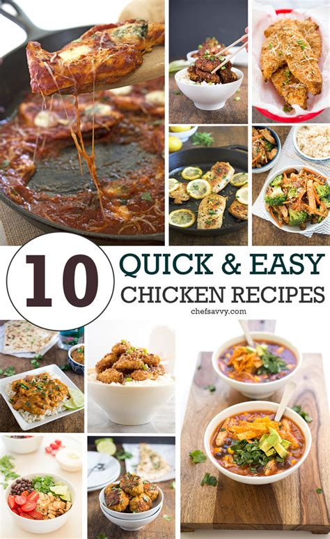 great easy recipes top 10 quick easy chicken recipes