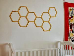 DIY Honeycomb Hexagon Popsicle Stick Wall Art Pink