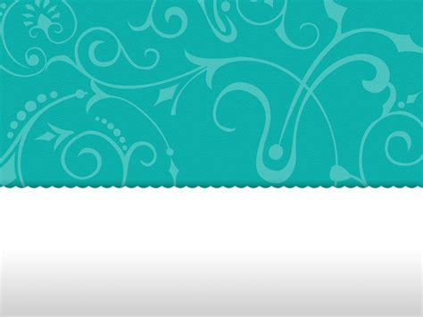 Turquoise Template by Vintage Floral Turquoise Powerpoint Template