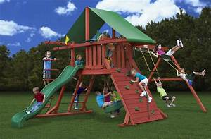 Decorating: Awesome Gorilla Swing Sets For Kids Play Yard ...