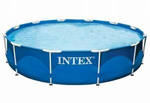 pool metal frame pool rondo intex kaufen otto With französischer balkon mit garten pool intex