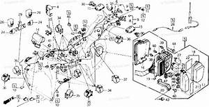 Honda Motorcycle 1990 Oem Parts Diagram For Wire Harness