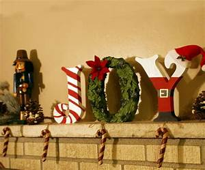 create festive christmas standing wood letters diy With joy christmas letters