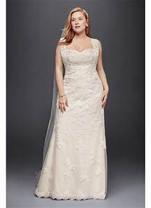 plus size sheath wedding dress with tank straps david39s With plus size sheath wedding dress
