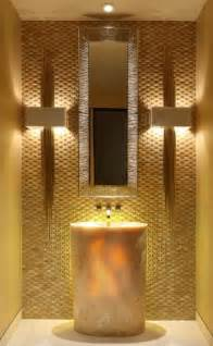 Gold Luxury Powder Room Bathroom
