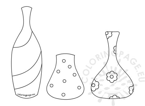 types flower pots coloring page