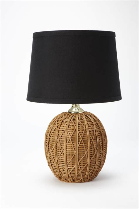 nate berkus l shade nate berkus woven rattan table l base with black linen