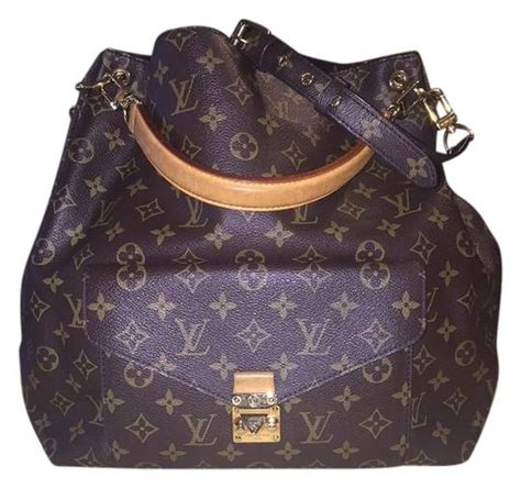 louis vuitton brown monogram canvas metis hobo tradesy