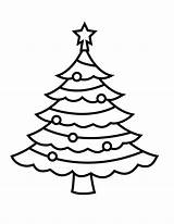 Coloring Pages Christmas Tree Simple sketch template