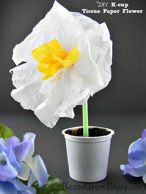 diy  cup tissue paper flower