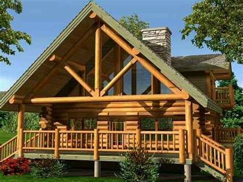 Small Log Home With Loft Small Log Cabin Home Designs