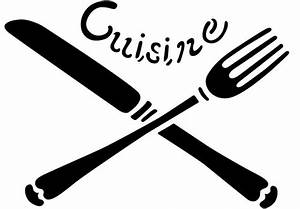 Couvert De Cuisine : pochoir couverts cuisine en plastique r utilisable volont ~ Teatrodelosmanantiales.com Idées de Décoration