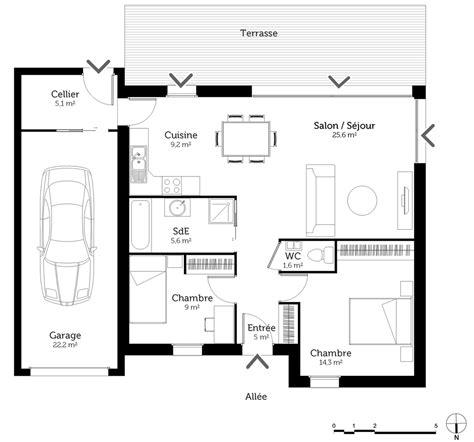 Plan Maison 3 Pièces Plain-pied
