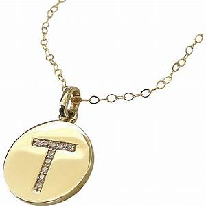 Katie holmes diamond initial necklace in 14k solid gold for 14k gold letter necklace