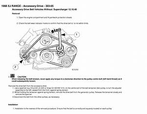 Diagram To Install Serpentine Belt 2000 Jaguar Xj Series