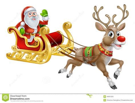 Santa Sleigh Clipart Sleigh Clipart Sleigh Pencil And In