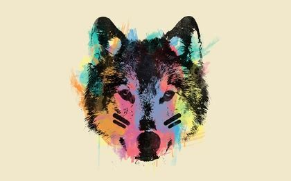 abstract animals wolves background  wallpaper high