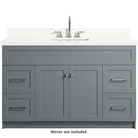 ariel hamlet   gray single sink bathroom vanity