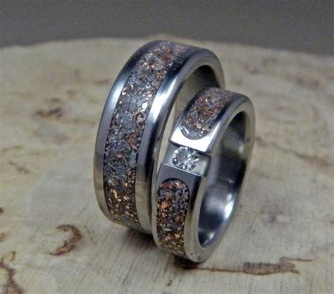 1000 ideas about titanium rings on wood