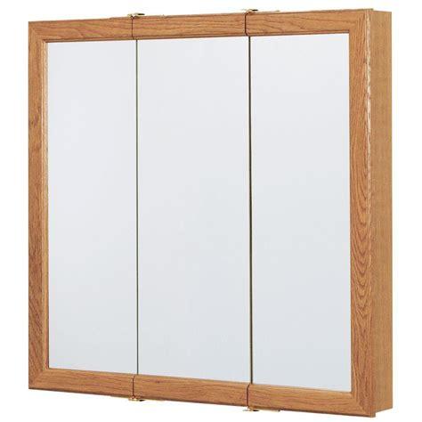 glacier bay medicine cabinet glacier bay 30 in w x 29 in h framed surface mount tri
